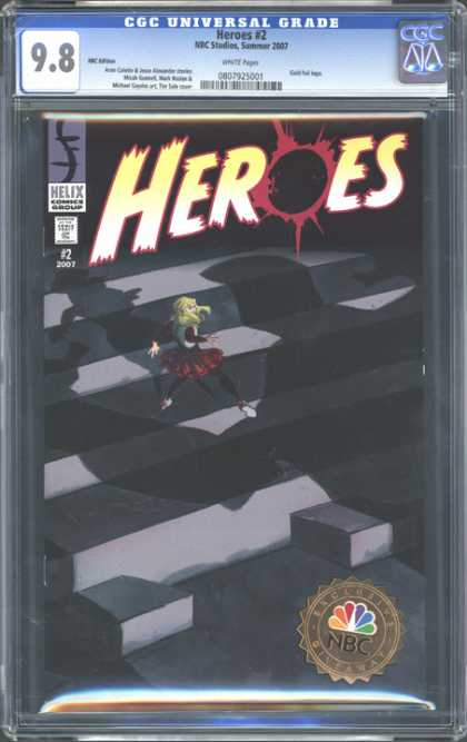 CGC Graded Comics - Heroes #2 (CGC) - Heroes - Shadows - Ledger - Woman - Helix