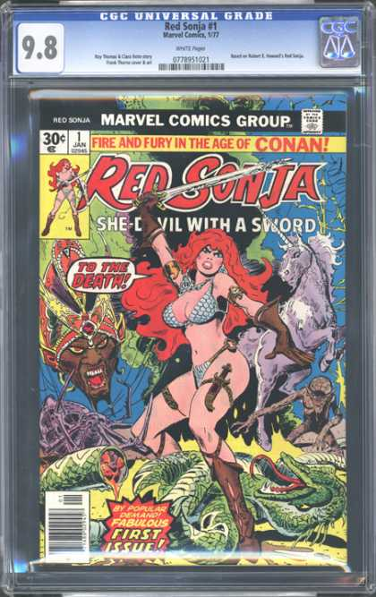 CGC Graded Comics - Red Sonja #1 (CGC) - 98 - Marvel Comics Group - Approved By The Comics Code Authority - Jan - First Issue
