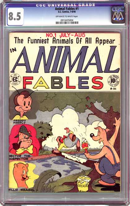 CGC Graded Comics - Animal Fables #1 (CGC) - Animal Fables - Eccomics - The Funniest Animals - Tree - Freddy Firefly