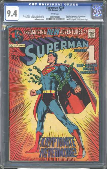 CGC Graded Comics - Superman #233 (CGC) - Superman - Amazing New Adventures - Best-selling - Kryptonite Nevermore - Dc