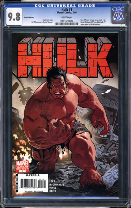 CGC Graded Comics - Hulk #1 (CGC) - Muscles - Strong - Powerful - Scary - Intimidating