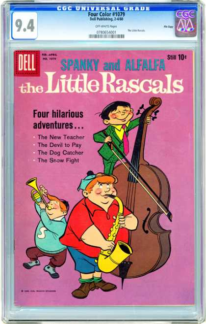 CGC Graded Comics - Four Color #1079 (CGC) - Dell - Spanky And Alfafa - Cello - The Little Rascals - Trumpet