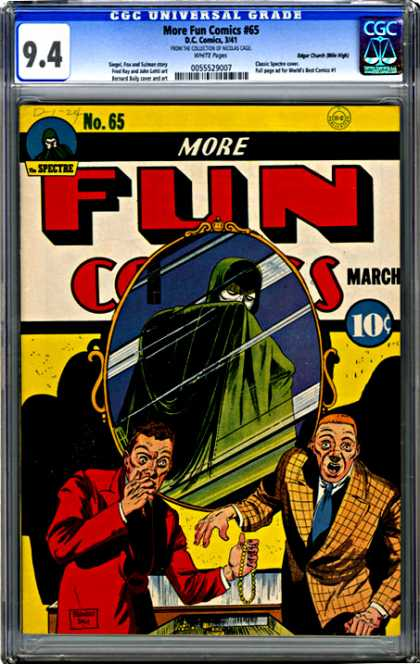 CGC Graded Comics - More Fun Comics #65 (CGC) - No 65 - March - Mirror - Gold - Robbery