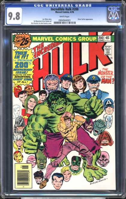CGC Graded Comics - Incredible Hulk #200 (CGC) - Marvel - The Hulk - Police - Faces - Monster