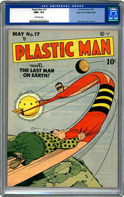 CGC Graded Comics - Plastic Man #17 (CGC) - Plastic Man - Last Man On Earth - Planet Earth - Sun - Stretched Man