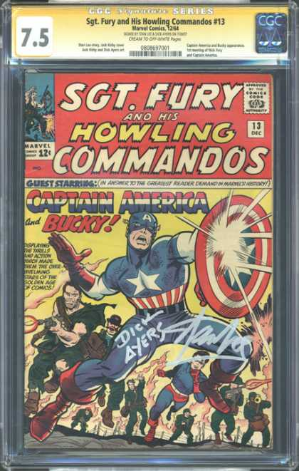 CGC Graded Comics - Sgt. Fury and His Howling Commandos #13 (CGC)