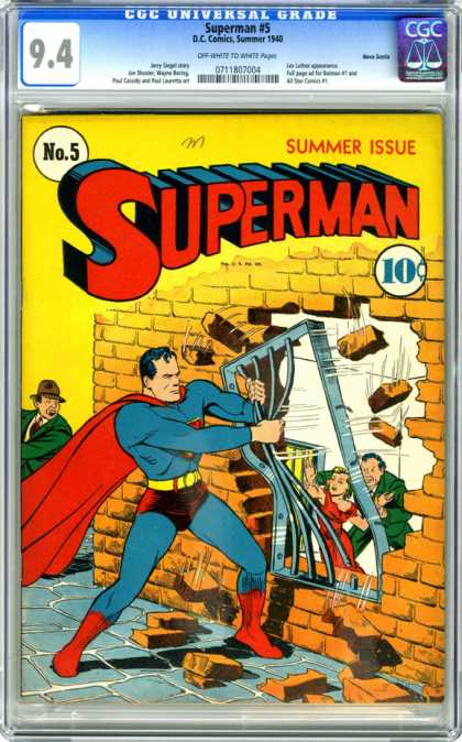 CGC Graded Comics - Superman #5 (CGC) - Superman