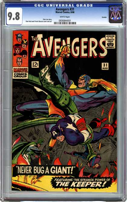 CGC Graded Comics - Avengers #31 (CGC) - Marvel Comics - Avengers 31 - Captain America - Flash - Never Bug A Giant