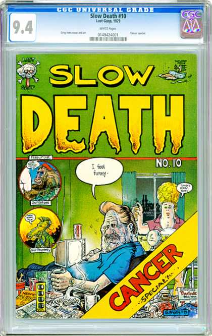 CGC Graded Comics - Slow Death #10 (CGC) - Cancer Special - Tv - Tales From The Crypt Spoof - Baboon - Apartment