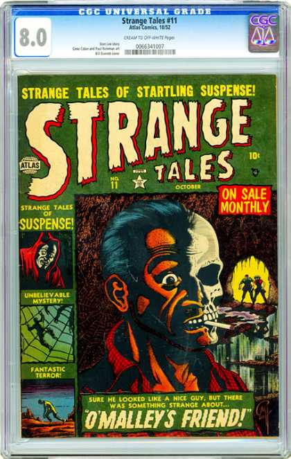 CGC Graded Comics - Strange Tales #11 (CGC) - Mystery - Skull - Horror - Frightening - Smoking