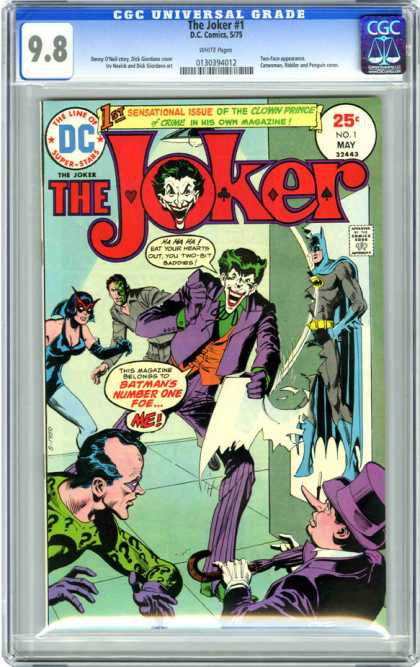 CGC Graded Comics - The Joker #1 (CGC) - The Joker - Sensational - Batman - Number One Foe - Dc
