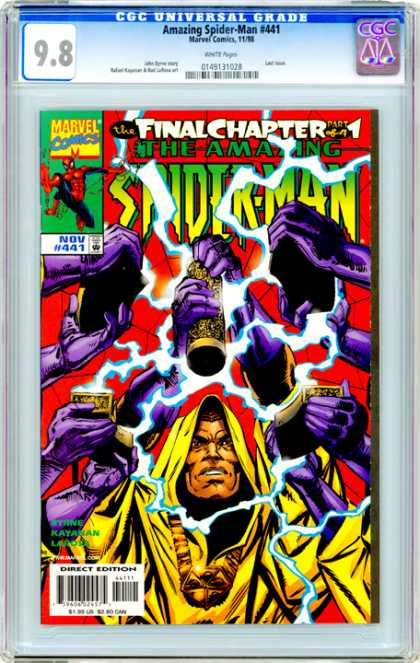 CGC Graded Comics - Amazing Spider-Man #441 (CGC) - Marvel Comics - Final Chapter - Purple Hands - Yellow Hooded Cape - November