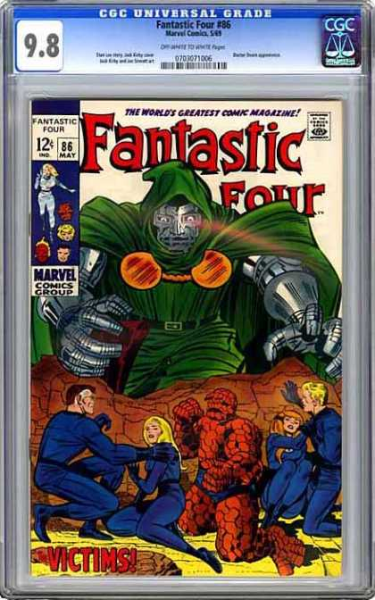 CGC Graded Comics - Fantastic Four #86 (CGC) - Fantastic Four - Dr Doom - The Thing - Mr Fantastic - Invisible Girl