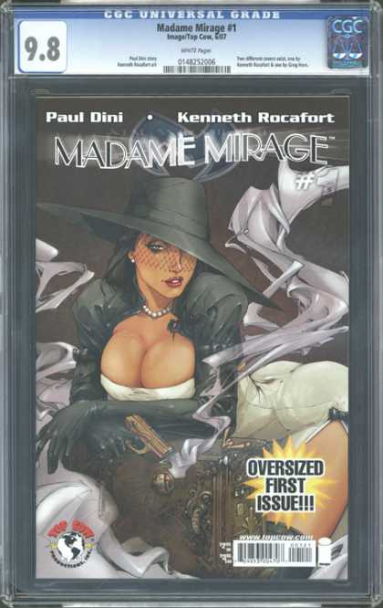 CGC Graded Comics - Madame Mirage #1 (CGC) - Paul Dini - Kenneth Rocafort - Oversized First Issue - Black Hat