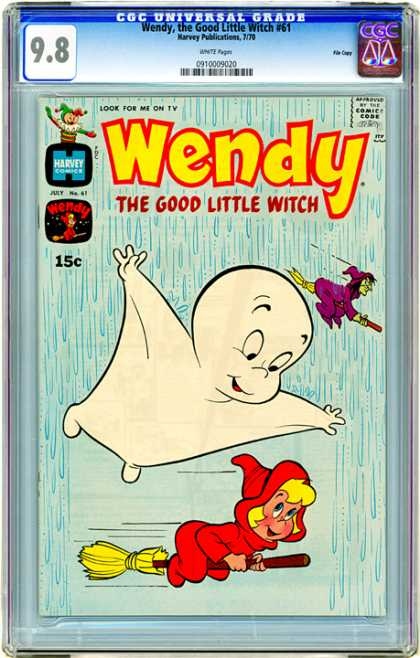 CGC Graded Comics - Wendy, the Good Little Witch #61 (CGC) - Casper - Friendly Ghost - Witch - Flying - Rain