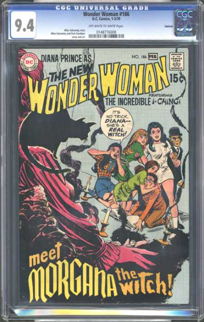CGC Graded Comics - Wonder Woman #186 (CGC) - The New Wonder Woman - Incredible I-ching - Morgana The Witch - Meet Morgana - Black Cat