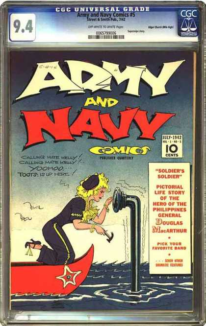 CGC Graded Comics - Army and Navy Comics #5 (CGC)