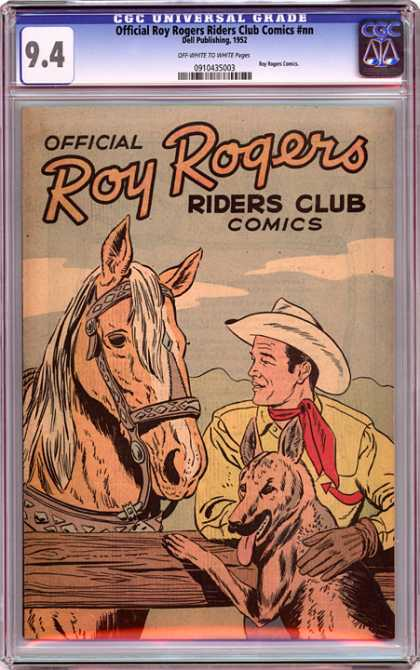 CGC Graded Comics - Official Roy Rogers Riders Club Comics #nn (CGC) - Riders Club Comics - Roy Rogers - Horse - Dog - Ranch