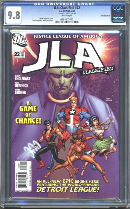 CGC Graded Comics - JLA: Classified #22 (CGC) - Dc Comics - 22 - Detroit League - Steve Englheart - A Game Of Chance