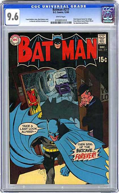 CGC Graded Comics - Batman #217 (CGC) - Universal Grade - Bat Man - Then Seal Up - Batcave Forever - Take A Last Look