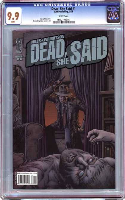 CGC Graded Comics - Dead, She Said #1 (CGC) - Dark - Curtain - Night - Aim - Room