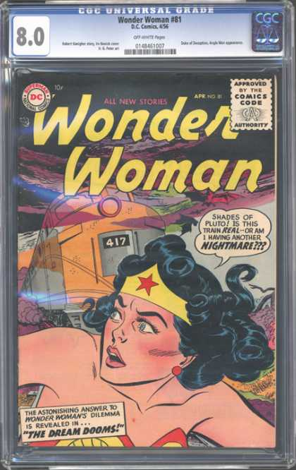 CGC Graded Comics - Wonder Woman #81 (CGC) - Wonder Woman - Superheroine - The Dream Dooms - Powerful Woman - Train 417