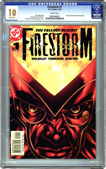 CGC Graded Comics - Firestorm #1 (CGC) - Dan Jolley - Chriscross - John Dell - Red Face - Fire