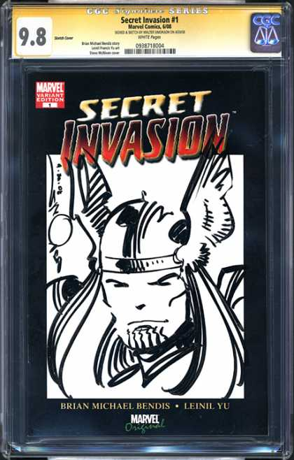 CGC Graded Comics - Secret Invasion #1 (CGC) - Street Invasion - Marvel Variant Edition - Balance - Brian Micheal Bendis - Leinil Yu