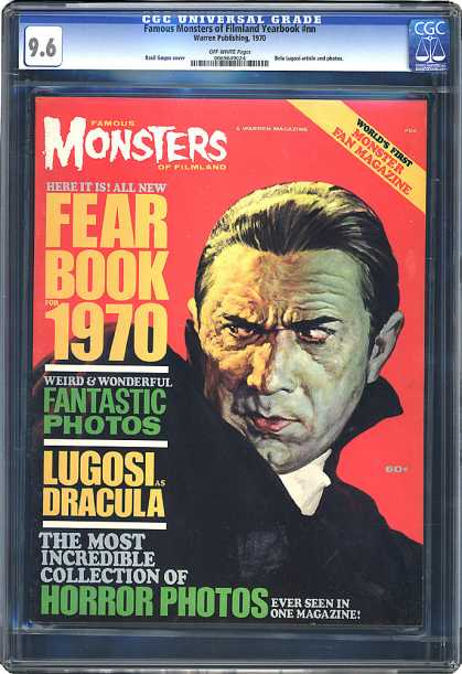 CGC Graded Comics - Famous Monsters of Filmland Yearbook #nn (CGC) - Lugosi - Dracula - Photos - Fear Book 1970 - Collection