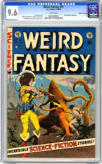 CGC Graded Comics - Weird Fantasy #21 (CGC) - Weird Fantasy - 96 - Gun - Ec Comics - Incredible Science Fiction Stories