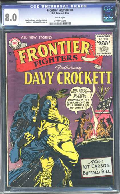 CGC Graded Comics - Frontier Fighters #4 (CGC) - Davy Crockett - Kit Carson - Buffalo Bill - Indians - Tepee