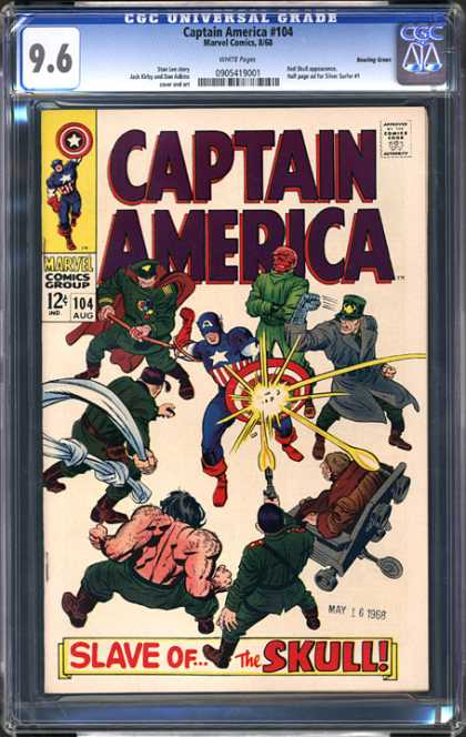 CGC Graded Comics - Captain America #104 (CGC) - Captain America - Shield - Marvel - 12 Cents - Superhero
