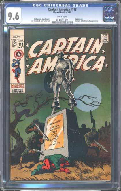 CGC Graded Comics - Captain America #113 (CGC) - Idol That Stands For America - Released In May - Is This The End Of Captian Amserica - Chielded Superhero - Protects American People