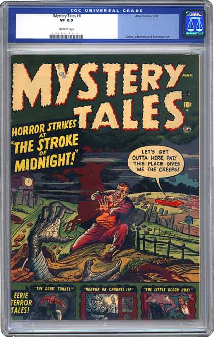 CGC Graded Comics - Mystery Tales #1 (CGC) - Horror - Stroke - Midnight - Creeps - Outta Here