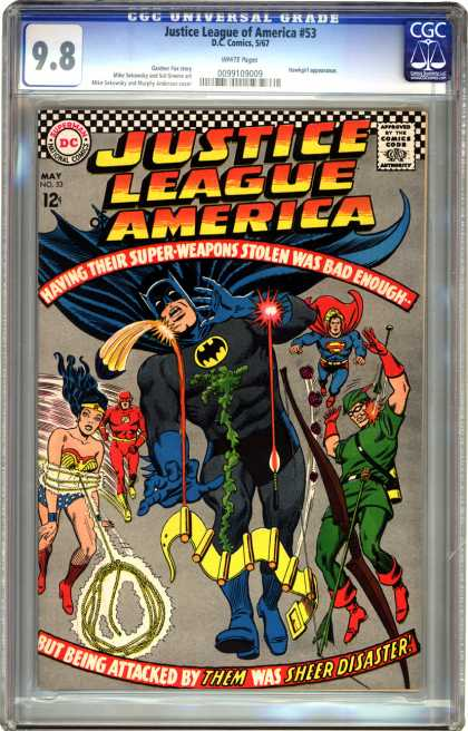CGC Graded Comics - Justice League of America #53 (CGC) - Dc Comics - Justice League America - Batman Superman - Wonder Woman - Flash