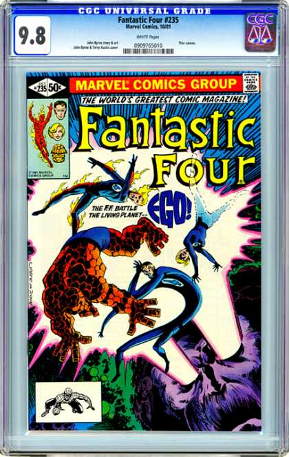 CGC Graded Comics - Fantastic Four #235 (CGC) - Fantastic Four - Marvel Comics Group - The Ff Battle - The Living Planet - Ego