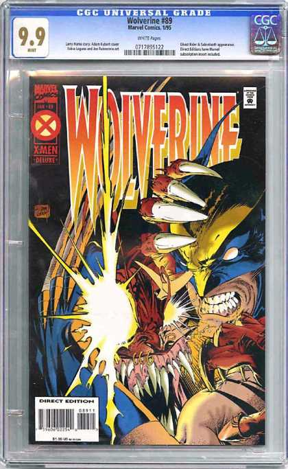 CGC Graded Comics - Wolverine #89 (CGC) - X-men - Wolverine - Claws - Superhero - Marvel