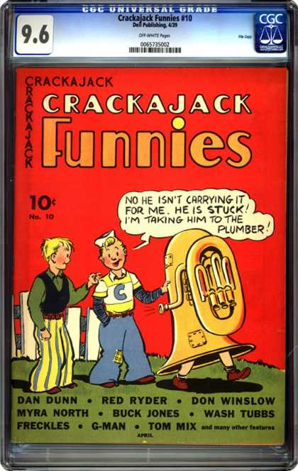 CGC Graded Comics - Crackajack Funnies #10 (CGC) - Crackajack - Funnies - G-man - Tom Mix - Freckles