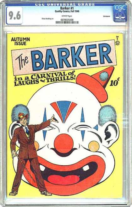 CGC Graded Comics - Barker #1 (CGC) - Barker - Autumn Issue - Carnival - Clown - Man