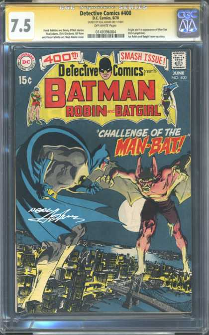 CGC Graded Comics - Detective Comics #400 (CGC) - Batman - Gotham City - 400th Smash Issue - Bridge - Man-bat