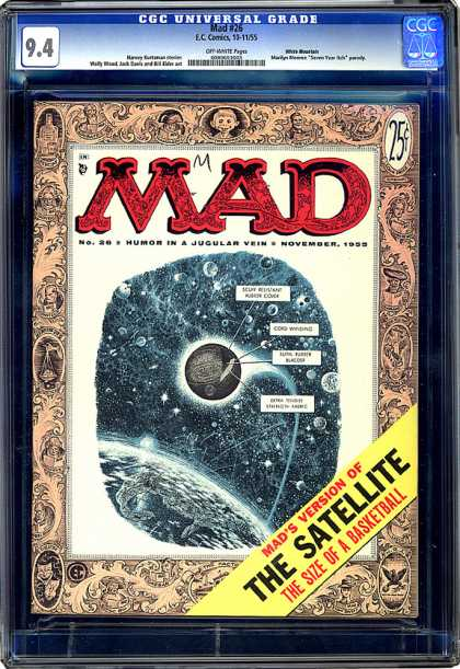 CGC Graded Comics - Mad #26 (CGC) - Ec Comics - Mad - The Satellite - The Size Of A Basketball - November 1955