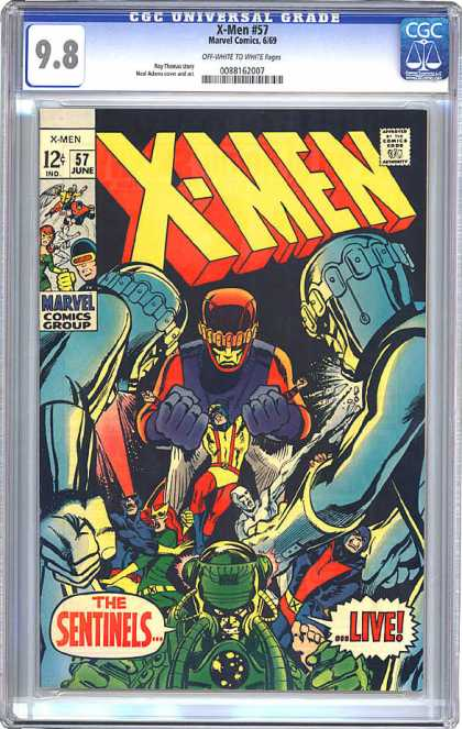 CGC Graded Comics - X-Men #57 (CGC)