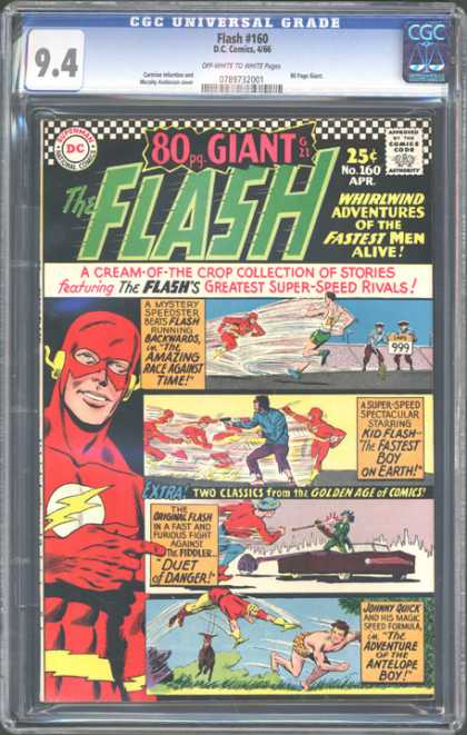 CGC Graded Comics - Flash #160 (CGC) - Flash - Superhero - Man - Approved By The Comics Code - Antelope Boy