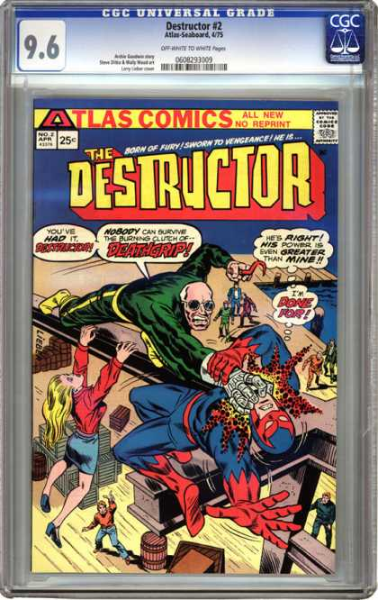 CGC Graded Comics - Destructor #2 (CGC) - Destructor - Atlas Comics - All New - No Reprint - Deathgrip