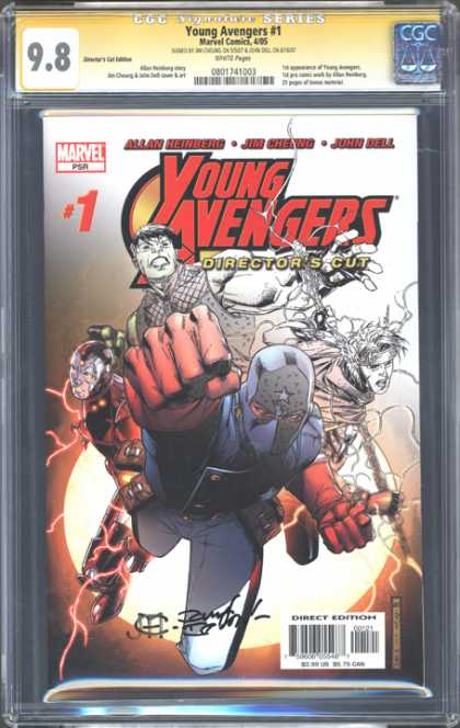 CGC Graded Comics - Young Avengers #1 (CGC) - Marvel - Directors Cut - First Issue - Ninja - Fist