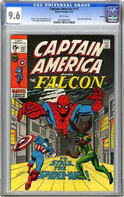 CGC Graded Comics - Captain America #137 (CGC) - Captain America - Falcon - Spider-man - Marvel - Superhero