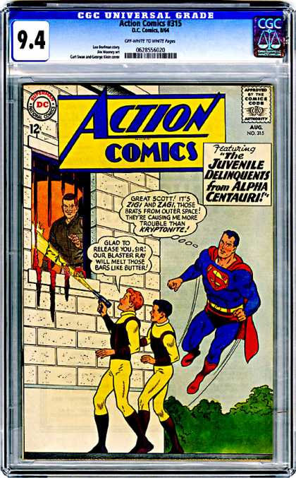 CGC Graded Comics - Action Comics #315 (CGC) - Superman - Great Scott - Blaster Ray - Prison - Juvenile Delinquents