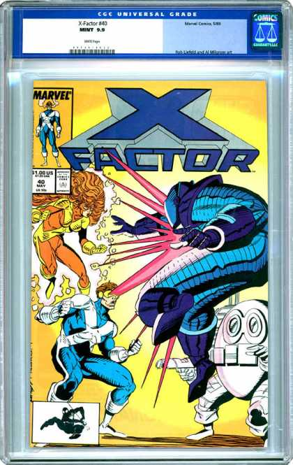 CGC Graded Comics - X-Factor #40 (CGC) - Marvel - Mutant - Cyclops - Robot - Woman