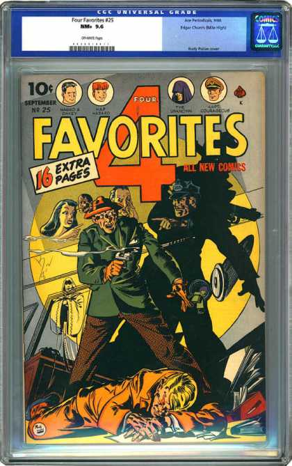 CGC Graded Comics - Four Favorites #25 (CGC) - Favorites - 4 All New - Extra Pages - September - Shot