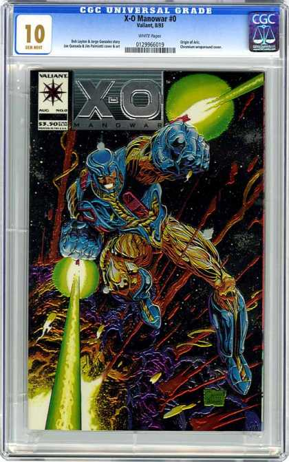 CGC Graded Comics - X-O Manowar #0 (CGC)